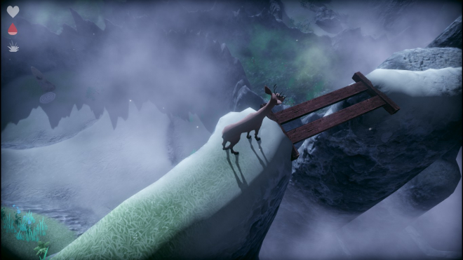 Deer on a ledge in Slice of Life